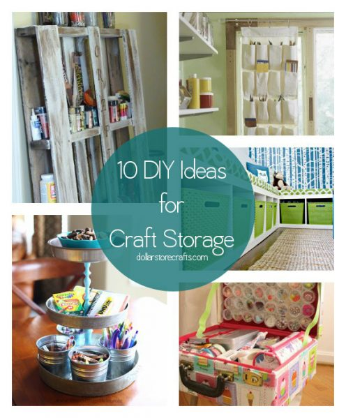 Dollar store crafts blog archive 10 ways to organize for Diy organization crafts