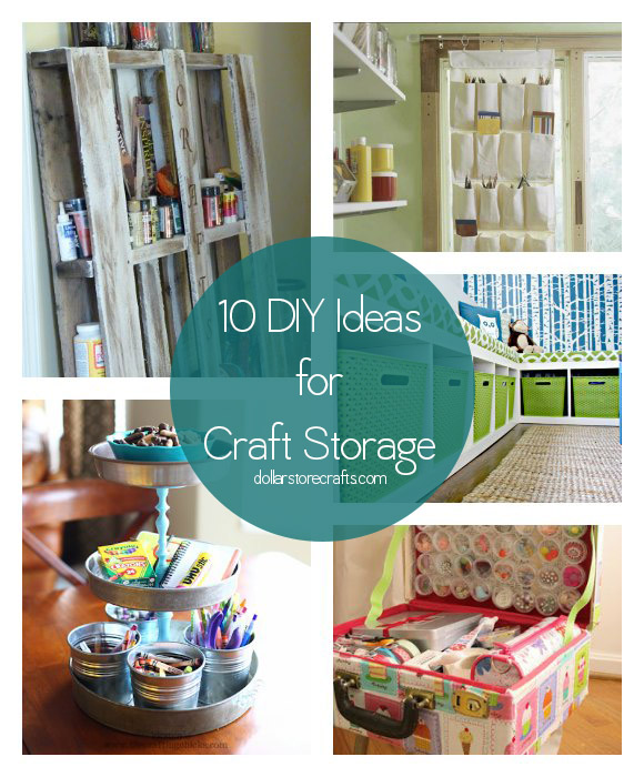 10 ways to organize your craft room or closet or corner Homemade craft storage ideas