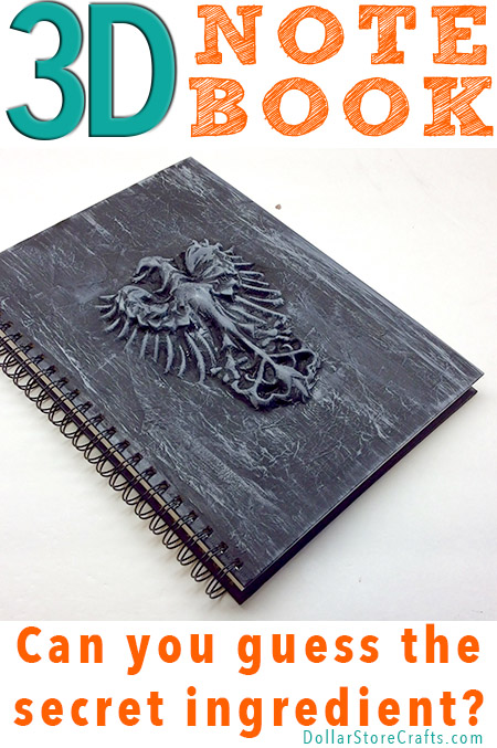 Can you guess the secret ingredient that I used to make this custom 3D notebook for my son?