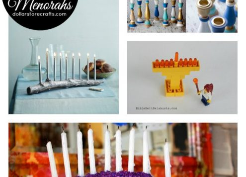 10 Modern DIY Menorahs