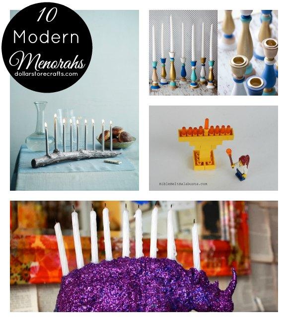 10 Modern DIY Menorahs