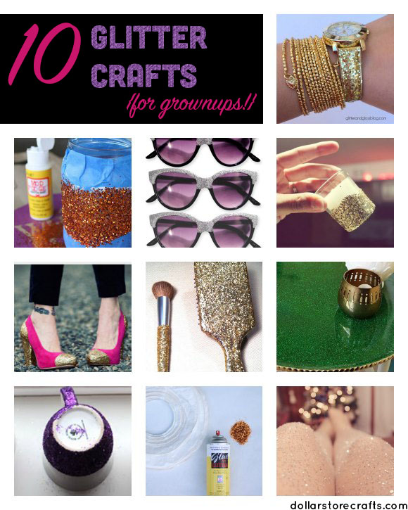 10 Glitter Crafts for Grownups