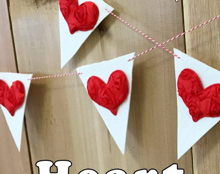 This DIY heart bunting uses a secret ingredient that makes it super simple without costing a lot to make.
