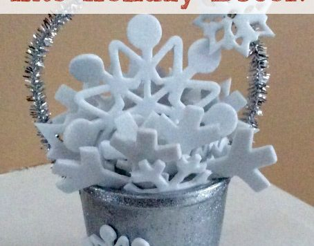 We have been asked by many folks for more craft ideas that use recycled K-cups. Here's one that is a great last-minute holiday project: a bucket of snow! These would be great for use as Christmas tree ornaments, as place card holders, or as embellishments for your gift wrapping.