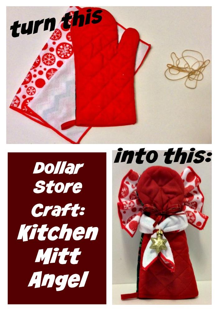 Dollar Store Craft: Kitchen Mitt Angel Tutorial