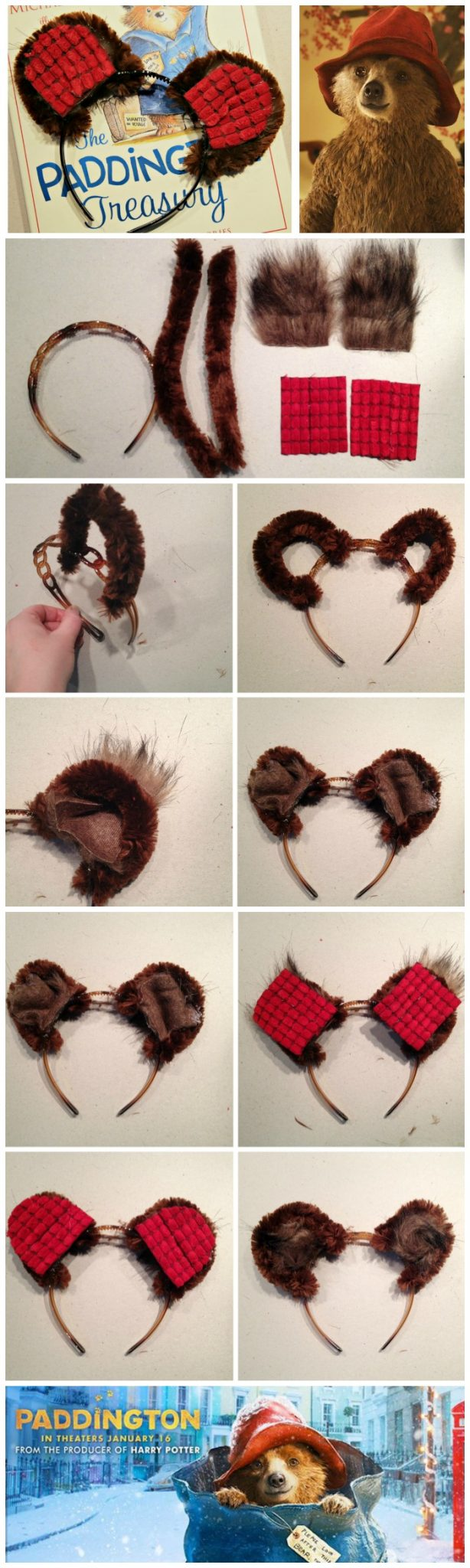 DIY Paddington Bear Ears Headband