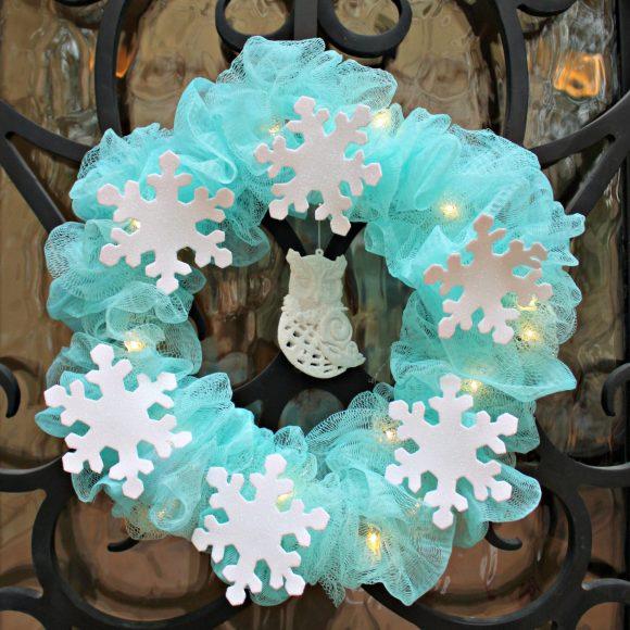 shower mesh wreath