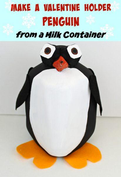 DIY Penguin Valentine Pail