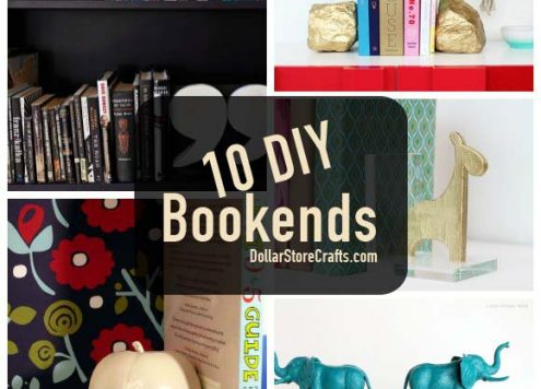 10 DIY Bookends to Get Your Bookcase in Order