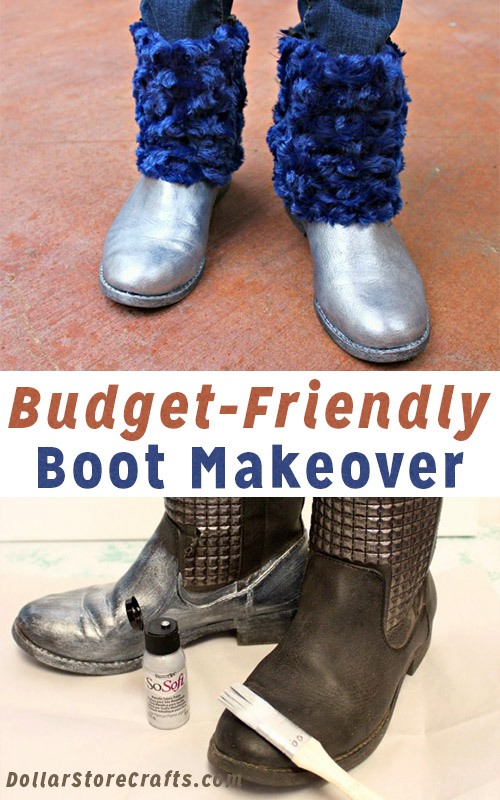 Give Your Boots a Fuzzy, Metallic Makeover!