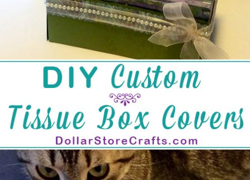 Custom Tissue Box Cover - Don't want that box of tissues on the end table to stick out like a sore thumb? Make yourself a custom tissue box cover, and then no matter which tissues you buy, they'll always look good with your decor!