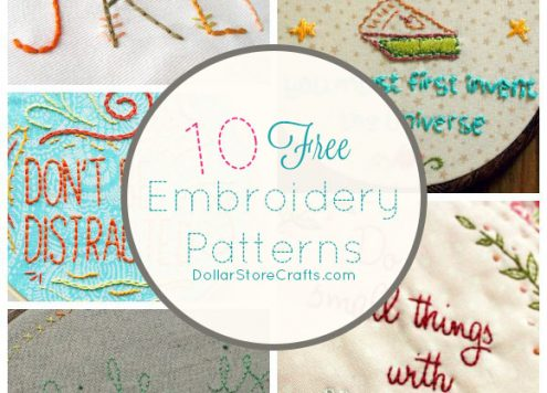 10 Free Typographical Embroidery Patterns