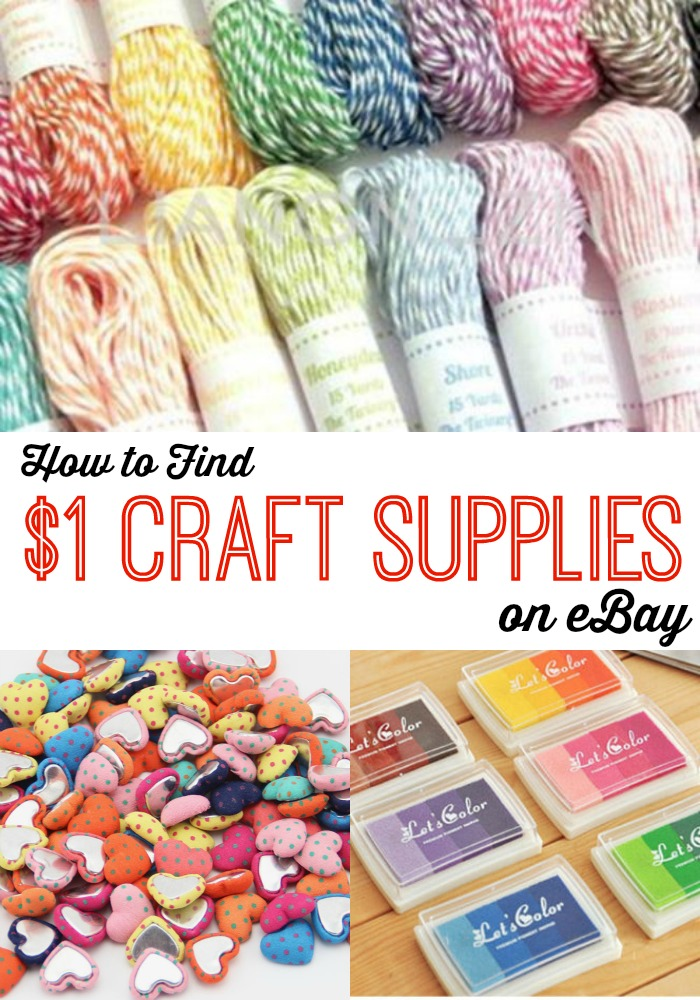 How to Find $1 Craft Supplies on eBay
