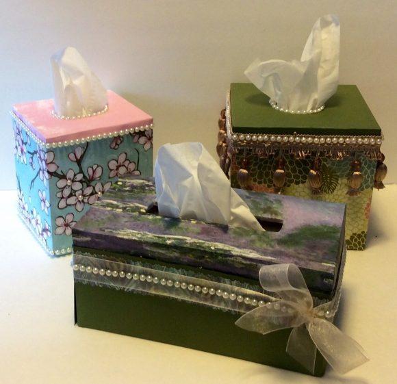 Custom tissue box covers