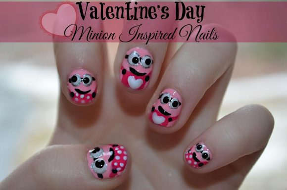 Tutorial: Despicable Me Inspired Valentine Nails » Dollar Store Crafts