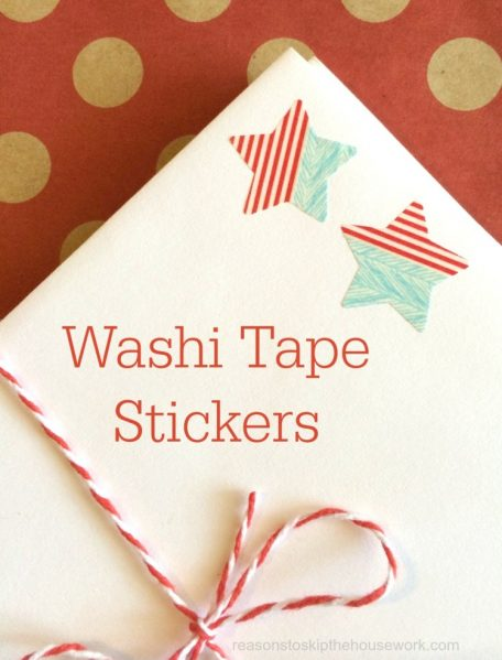 Make Washi Tape Stickers