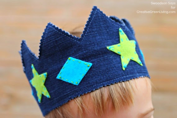 How to make a crown from old jeans