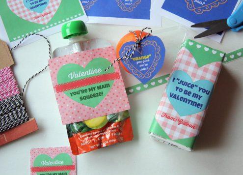Valentine's Day Printables for Healthy Snacks