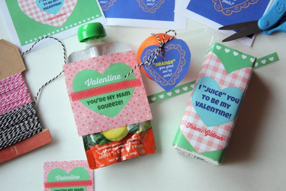 Valentine's Day Printables for Healthy Snacks
