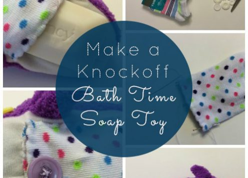DIY Bath Time Soak Toy - I got the inspiration for this craft watching Shark Tank. The creators were looking for investors. They now sell for $14.95 and work about the same way as the ones I created.