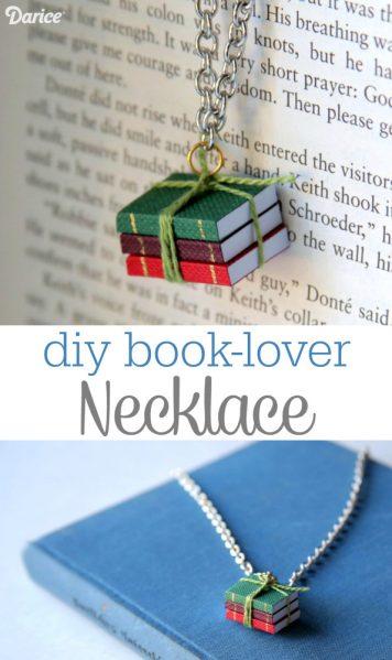 Make a Mini Book Necklace -- SO CUTE
