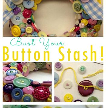 Button Wreath - Turn that button collection into a cute wreath. It's easy, and will give you an excuse to keep bringing home more buttons for your stash!