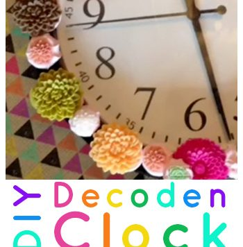 Easy Decoden Clock - What's the time? It's time to do Decoden!