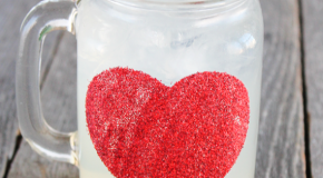 sparkley customer glitter mason jar mug
