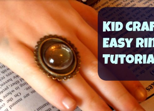 Kid Craft: easy ring tutorial