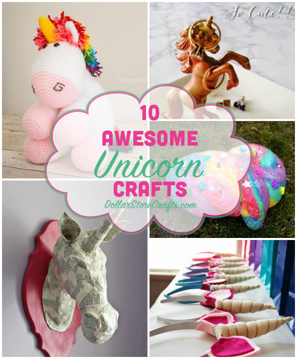 10 Unicorn Crafts For Magical Crafting Adventures Dollar Store Crafts