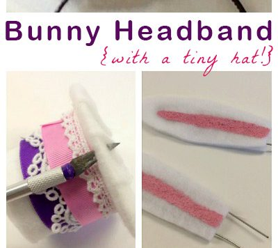 Make a Bunny Headband for Easter or For Your Dressup Bin!