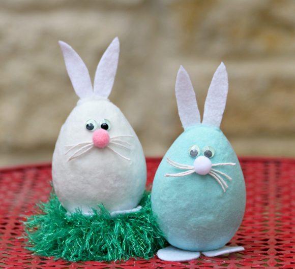 Tutorial: Flocked Easter Bunnies from Eggs