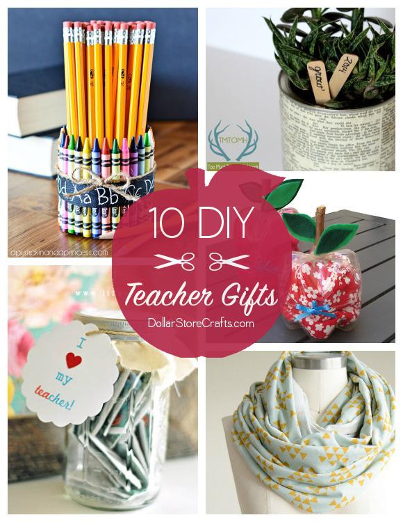 10 cute diy teacher gifts budget friendly dollar for Cute easy diy projects