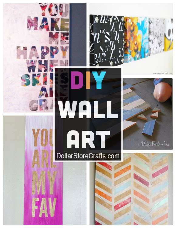 10 diy wall art ideas from recycled materials dollar for Room decoration from waste material