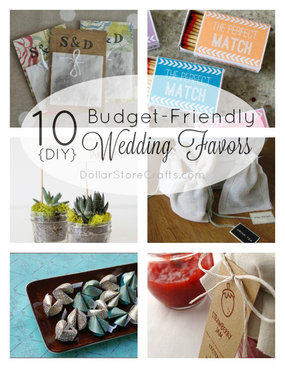 10 Diy Wedding Favors On A Budget Dollar Store Crafts