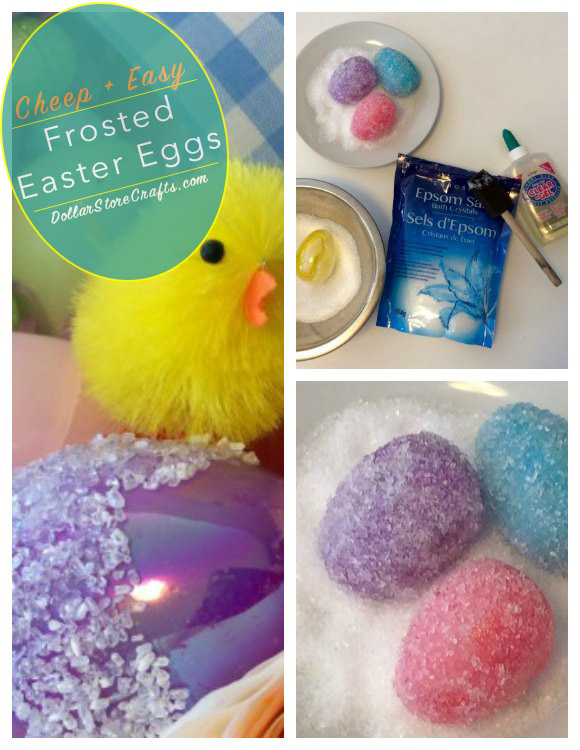 Tutorial:  Cheep + Easy Frosted Easter Eggs