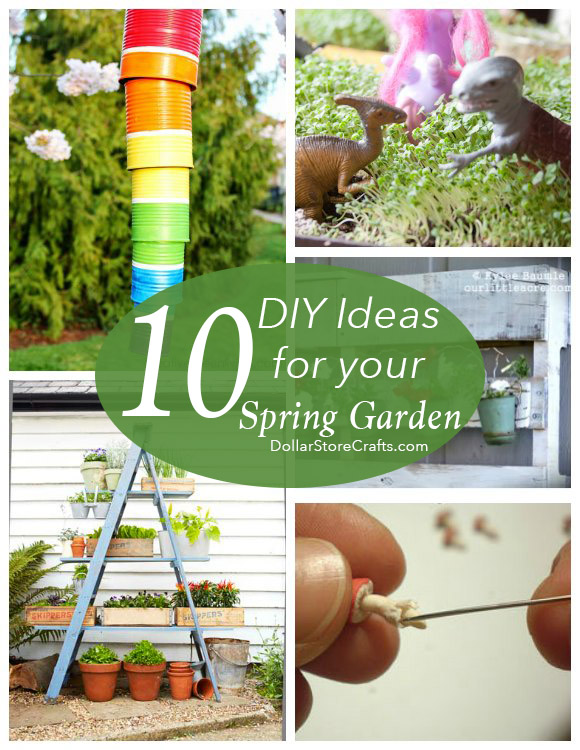 10 Cute Garden Crafts for Your Spring Garden Dollar Store Crafts