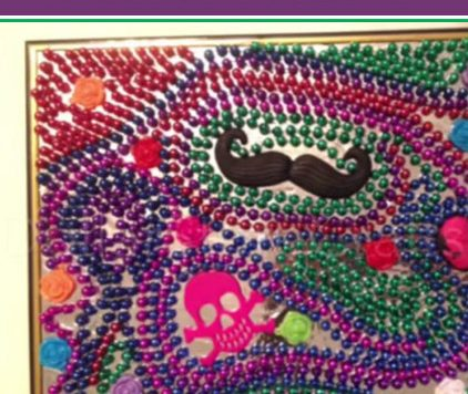 Tutorial: Mardi Gras Bead Mosaic Mirror