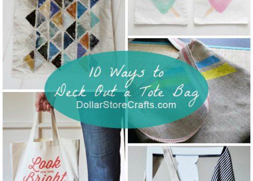 10 Cute Ways to Decorate a Plain Tote Bag