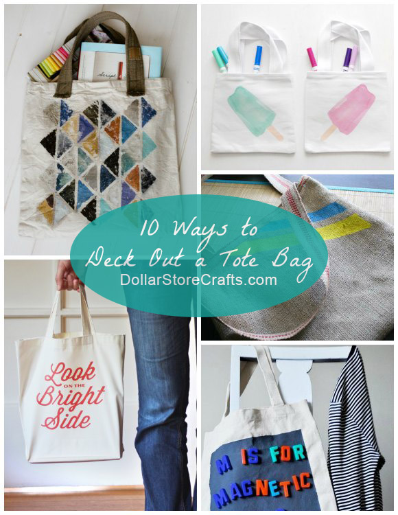 10 Cute Ways to Decorate a Plain Tote Bag