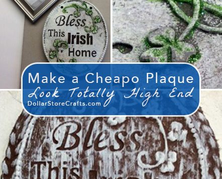 Decorative Plaque Makeover - It's easy to give cheap plaques a makeover to make them look more high-end.