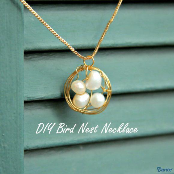Make a Bird Nest Necklace