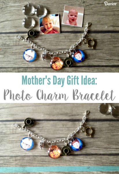 Mother's Day Gift Idea: DIY Photo Charm Bracelet