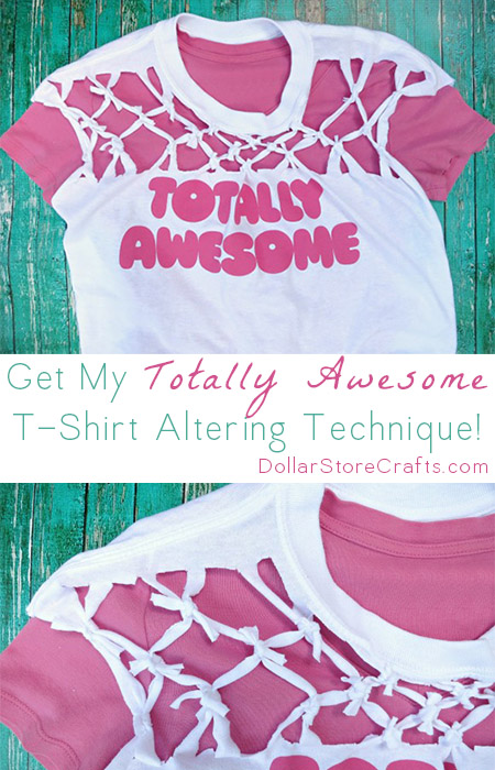 Knotted T-shirt Tutorial - Today I'm going to show you another really cool t-shirt cutting technique that looks complicated but is actually really simple to do!  Once you get the hang of it you'll be able to use it in different ways to alter your t-shirts.