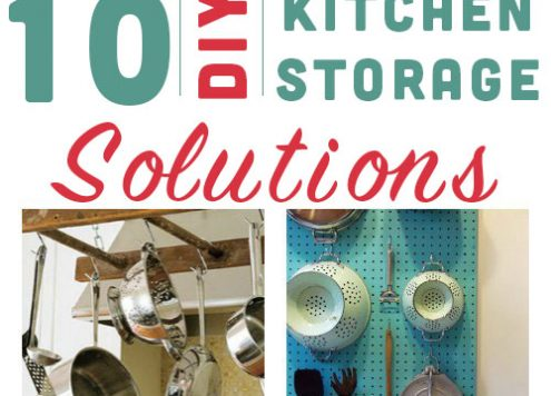 10 DIY Kitchen Storage Ideas