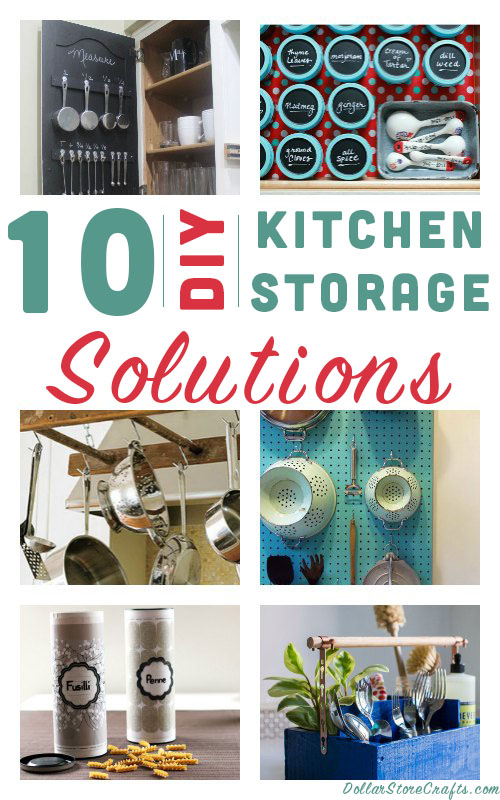 10 Kitchen And Home Decor Items Every 20 Something Needs: 10 DIY Ways To Organize Your Kitchen » Dollar Store Crafts