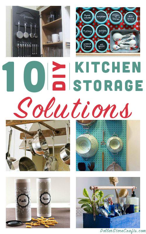 10 Diy Ways To Organize Your Kitchen Dollar Store Crafts