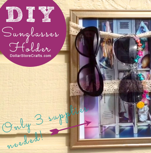 Make a DIY Sunglasses Holder from an Old Picture Frame