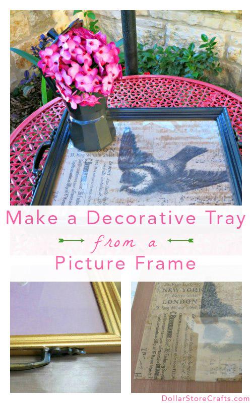 Tutorial: Decorative Tray from Photo Frames