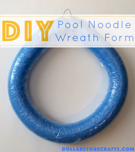 DIY Pool Noodle Wreath Form - There are a million ways to make a wreath, and one of our favorites methods uses a pool noodle as an inexpensive wreath form.